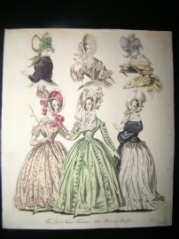 World of Fashion 1837 Hand Col Fashion Print 18